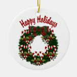 Lovely Christmas Holiday Wreaths - Customize Ornament