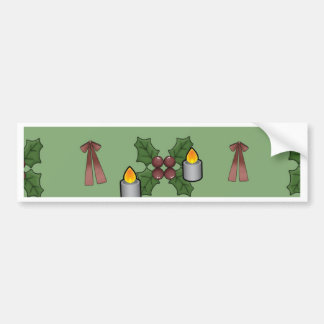 lovely Christmas Pattern Bumper Stickers