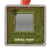 lovely christmas photo ornament