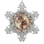 lovely Christmas tree or a decorative wolf ornamen Snowflake Pewter Christmas Ornament