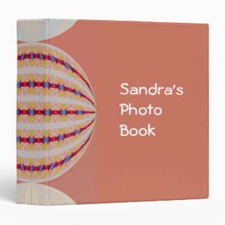 lovely circle abstract 3 ring binder