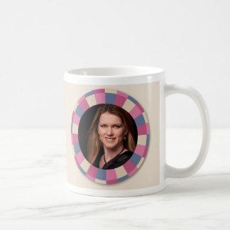 lovely Circle frame - 'Beige Rose' on light beige Coffee Mug