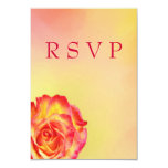 "Lovely Circus Rose RSVP Card 3.5"" X 5"" Invitation Card"