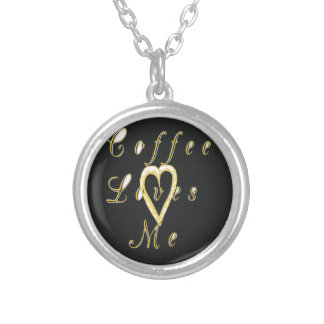 Lovely Coffee love me. Silver Plated Necklace