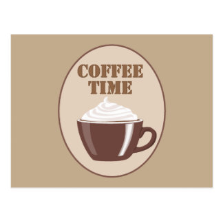 Lovely Coffee Time Postcard