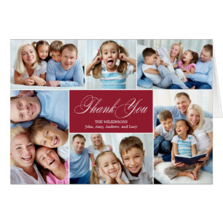 Lovely Collage Thank You Cards Greeting Card