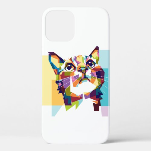 lovely colorful cat design Case-Mate iPhone case
