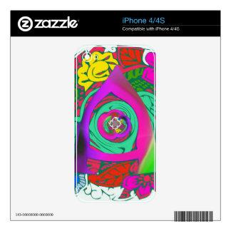 Lovely colorful Floral Monogrammed logo design iPhone 4S Skins