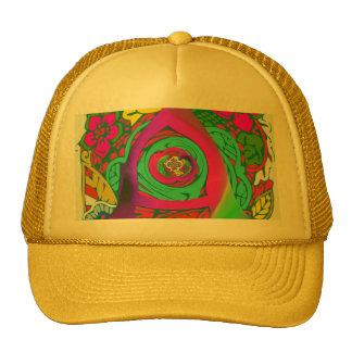 Lovely colorful Floral Monogrammed logo design Trucker Hat