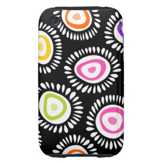Lovely colorful funky flowers iPhone 3G Case
