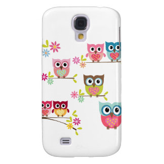 Lovely Colorful Owls for Samsung Galaxy S4 Cover