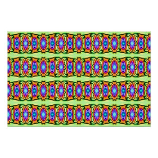 lovely colorful pattern poster