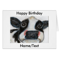 Lovely Cow Greetings birthday card girlfriend etc.