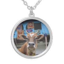 Lovely cow silver plated necklace