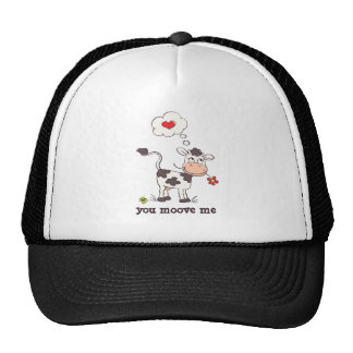 """Lovely Cow - """"you moove me"""" Trucker Hat"""