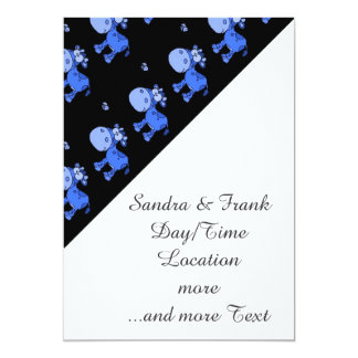 lovely cows,oneway blue 5x7 paper invitation card