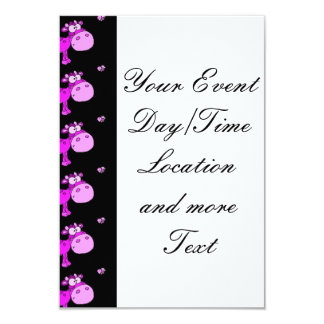 lovely cows pink 3.5x5 paper invitation card