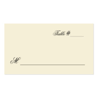 Lovely Cream Escort Place Card Double-Sided Standard Business Cards (Pack Of 100)