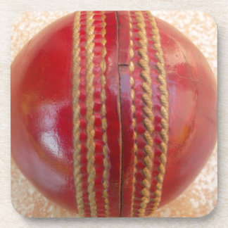 Lovely Cricket Ball. Drink Coaster