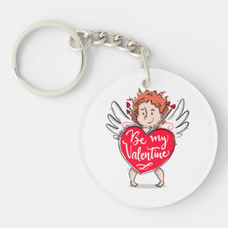 Lovely Cupid's Be My Valentine Keychain