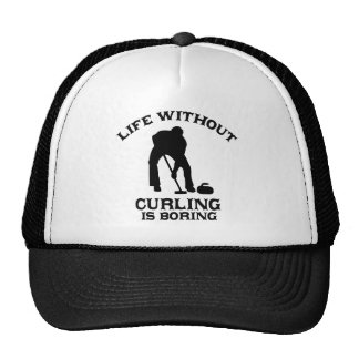 Lovely curling DESIGNS Trucker Hat