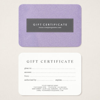 Lovely Customizable Gift Certificate