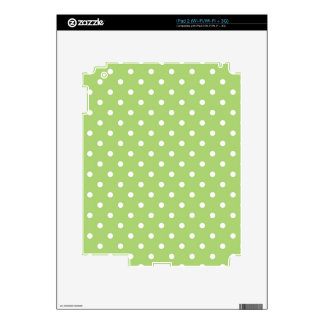 Lovely, cute, classic  lime green polka dots iPad 2 decals