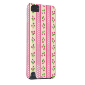 Lovely Cute Pink Rose Polka Dots Ribbon iPod Touch (5th Generation) Case