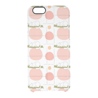 Lovely Cute Sleeping Cats Pattern Unique Clear iPhone 6/6S Case
