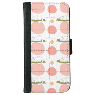 Lovely Cute Sleeping Cats Pattern Unique Wallet Phone Case For iPhone 6/6s