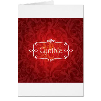 lovely Cynthia name designs Card