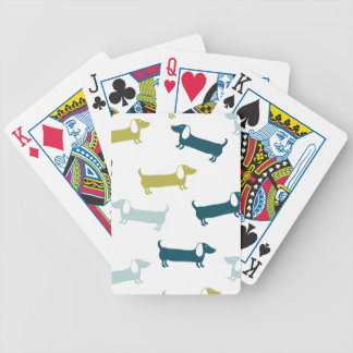 Lovely dachshunds in great colors bicycle playing cards