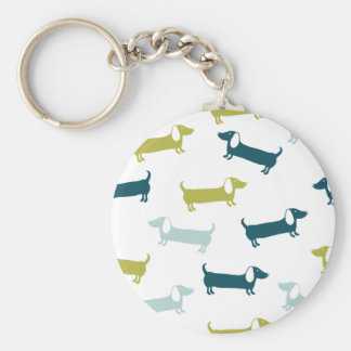 Lovely dachshunds in great colors keychain