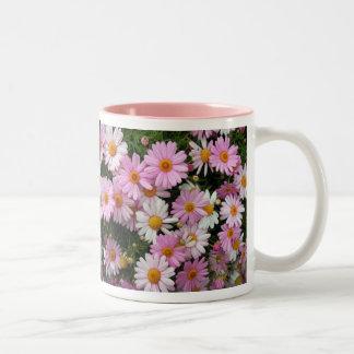 Lovely Daisies/Gift Mug(TBA) Two-Tone Coffee Mug