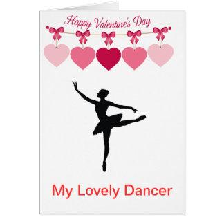 Lovely Dancer Valentine's Day Greeting Card