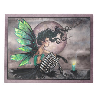 Lovely Dark and Green Fairy Notepad