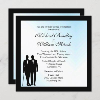 Lovely Day Gay Wedding Invitation