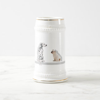 lovely dogs beer stein
