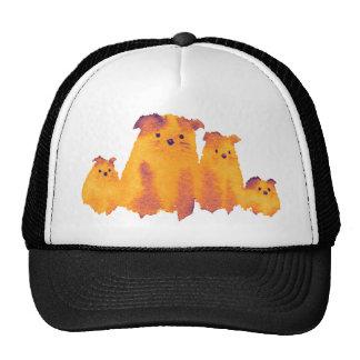 Lovely dog's family mesh hats