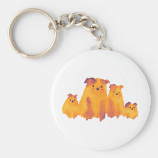 Lovely dogs family keychain