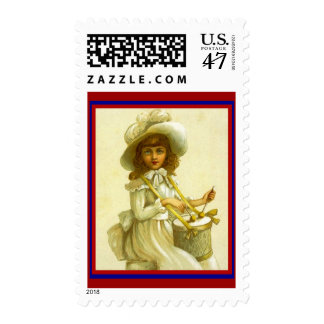 LOVELY DOLL DRUMMING Stamp GR8 Doll Party Mailings