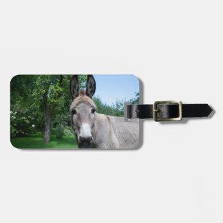 Lovely Donkey Portrait Luggage Tag