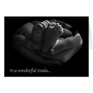 Lovely Doula Thank You Card, Hands and Feet Card