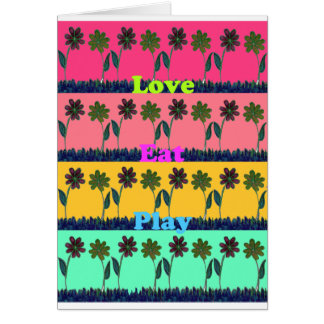 Lovely  Eat Play colors.png Greeting Card
