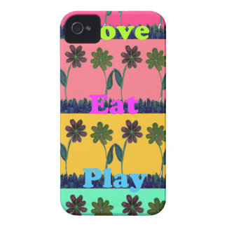 Lovely  Eat Play colors.png iPhone 4 Case-Mate Case