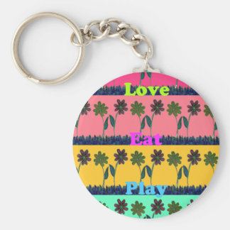 Lovely  Eat Play colors.png Keychain