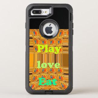 Lovely Eat play Custom Defender Series Case, OtterBox Defender iPhone 7 Plus Case