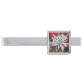 Lovely Edelweiss Leontopodium nivale Silver Finish Tie Bar