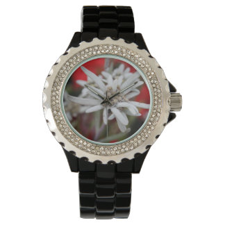 Lovely Edelweiss Leontopodium nivale Wristwatch
