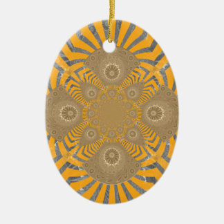 Lovely Edgy  amazing symmetrical pattern design Ceramic Ornament
